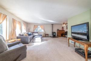 Living room from door at 16168 Hawks Lair Rd La Pine Oregon